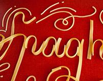 Spaghet-It Food Typography