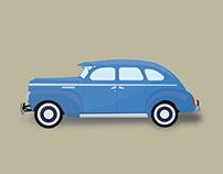 Illustration Old Cars Model