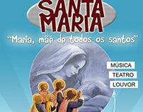 Banner criado para evento de jovens em igreja católica