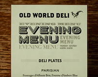 Old World Deli Evening Menu