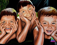 GRANDKIDS: Father's Day Gift | Pastel Painting