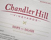 Chandler Hill Winery Menu