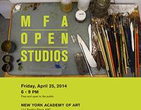Poster, Postcard & Webpage - MFA Open Studios