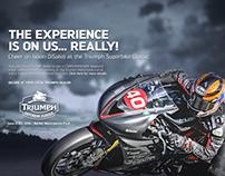 Triumph Sportbike Classic Ad Campaign