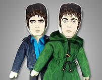 Oasis - Liam & Noel Gallagher plush dolls