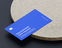 Free 3.5x2 in business cards mockup