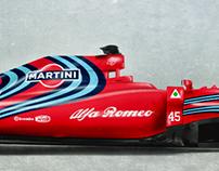 2017 Alfa Romeo Martini Racing Formula 1 Livery Concept