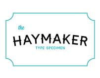 haymaker type specimen