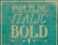 Underline | Bold | Italic