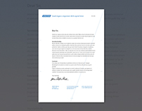 Infosystems Letterhead