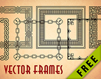 FREE set of vector borders and corners for frames.