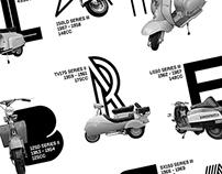 Lambretta 'Models' Screen Printed Poster