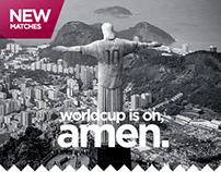 NEW x4 - Fifa WorldCup 2014 - Ongoing Artworks