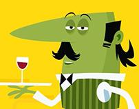 Little waiter animation