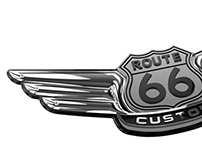 3D LOGO ROUTE 66 CUSTOM