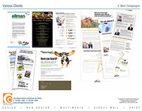 Email Campaigns designs for Various Clients