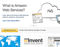 Amazon Web Services Redesign UI+UX