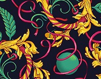 Rose du Monde - seamless pattern