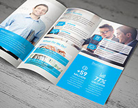 Blue Corporate Trifold