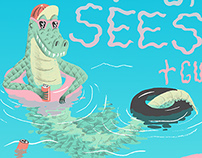 Poster for Thee Oh Sees' 2011 NZ tour.