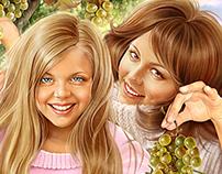 Illustrations for magazine