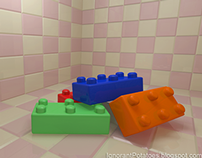 Legos in a Tiled Room