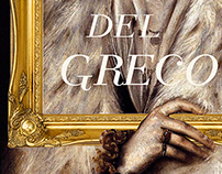 Bocetos cartel exposicion El greco entre costuras