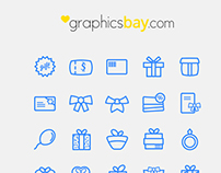 Exclusive 20 gift icons form GraphicsBay.