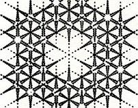 Snowflake Letterpress Print