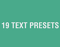 After Effects Animated Text Presets