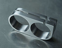 Titanium Two Finger Ring