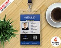 Free PSD : Office ID Card Design PSD Set