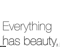 Everthing has Beauty - Comic Sans for Cancer
