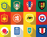 World Cup Crests - Brazil 2014 - Flat Design