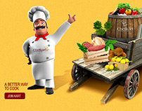 ingredients with chef ( cooking webpage)