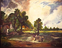 The Haywain - by Constable