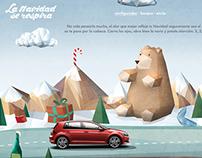 El ambientador con olor a Navidad. Volkswagen