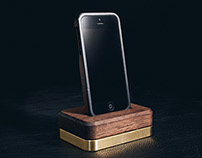 Limited Edition Dock ( Brass + Walnut )