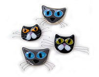 Cat fridge magnets