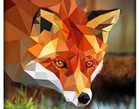Triangle fox vector