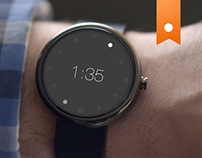 Moto 360 Watch UI