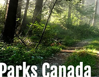 Parks Canada Web Design (Student Work)