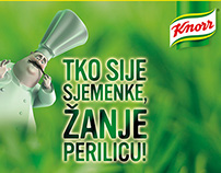 Knorr specimen on-pack stickers and Facebook app