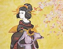 """Batik """"Japanese garden"""""""