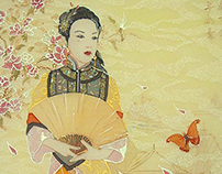 """Batik """"Geisha"""""""