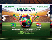Worldcup Brazil 2014 Flyer and FB Cover