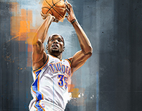Kevin Durant - Illustrated Print