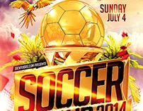 FIFA World Cup Brazil Flyer Template PSD