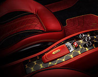 Exclusive interior tuning of Ferrari Italia