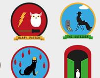 Badges - Favorite Books